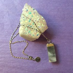 ✨Silver Raw Crystal Fluorite Necklace✨